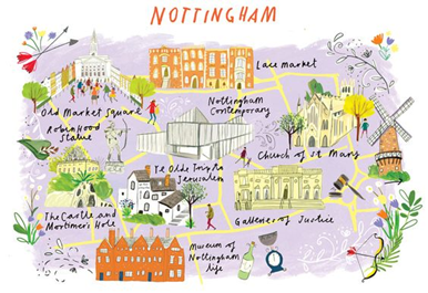 Site sieeing map of Nottingham.png